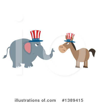 Republican Elephant Clipart #1389415 by Hit Toon