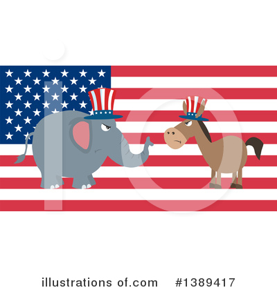Republican Elephant Clipart #1389417 by Hit Toon