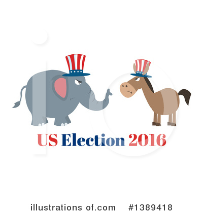 Republican Elephant Clipart #1389418 by Hit Toon