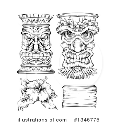 Royalty-Free (RF) Polynesian Clipart Illustration by BNP Design Studio - Stock Sample #1346775