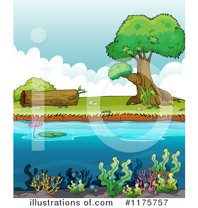 Royalty free rf pond clipart illustration 1175757 by colematt