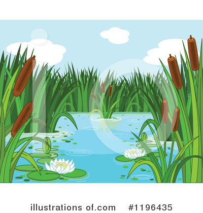 Royalty-Free (RF) Pond Clipart Illustration by Pushkin - Stock Sample #1196435