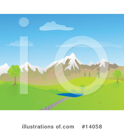 Royalty-Free (RF) Pond Clipart Illustration by Rasmussen Images - Stock Sample #14058