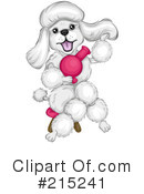Royalty-Free (RF) Poodle Clipart Illustration #215241