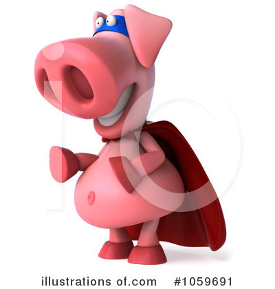Super Pig Clipart #1059691 by Julos