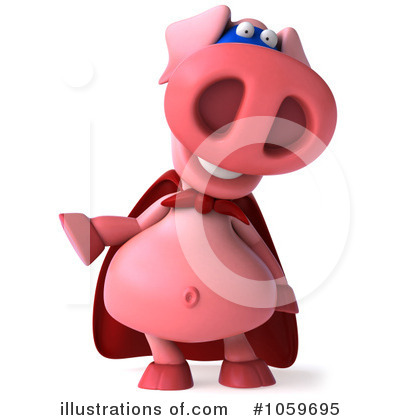 Super Pig Clipart #1059695 by Julos