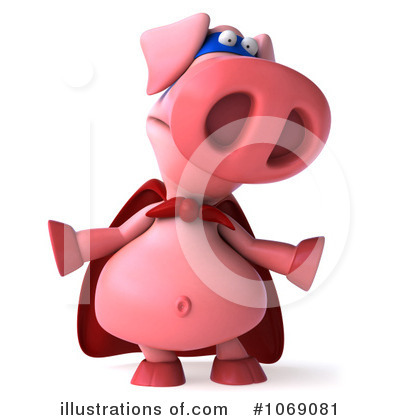 Super Pig Clipart #1069081 by Julos