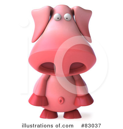 Pookie Pig Character Clipart #83037 by Julos