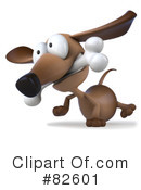 Royalty-Free (RF) Pookie Wiener Dog Character Clipart Illustration #82601
