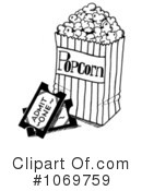 Royalty-Free (RF) Popcorn Clipart Illustration #1069759