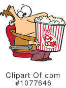 Royalty-Free (RF) Popcorn Clipart Illustration #1077646