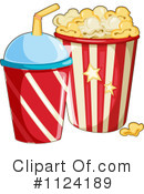 Royalty-Free (RF) Popcorn Clipart Illustration #1124189