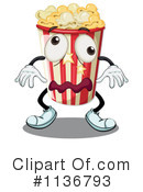 Royalty-Free (RF) Popcorn Clipart Illustration #1136793