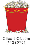 Royalty-Free (RF) Popcorn Clipart Illustration #1290751