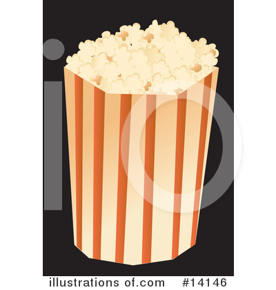 Royalty-Free (RF) Popcorn Clipart Illustration by Rasmussen Images - Stock Sample #14146