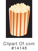 Royalty-Free (RF) Popcorn Clipart Illustration #14146