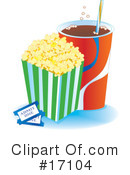 Royalty-Free (RF) Popcorn Clipart Illustration #17104