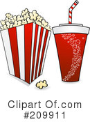 Royalty-Free (RF) Popcorn Clipart Illustration #209911