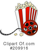 Royalty-Free (RF) Popcorn Clipart Illustration #209916
