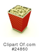 Royalty-Free (RF) Popcorn Clipart Illustration #24860
