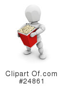 Royalty-Free (RF) Popcorn Clipart Illustration #24861