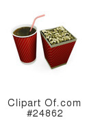 Royalty-Free (RF) Popcorn Clipart Illustration #24862