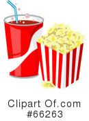 Royalty-Free (RF) Popcorn Clipart Illustration #66263