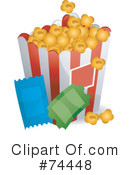 Royalty-Free (RF) Popcorn Clipart Illustration #74448