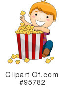 Royalty-Free (RF) Popcorn Clipart Illustration #95782