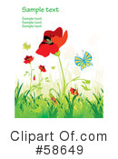 Royalty-Free (RF) Poppies Clipart Illustration #58649
