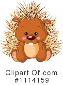 Royalty-Free (RF) Porcupine Clipart Illustration #1114159