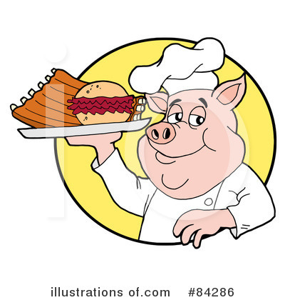 Pig Clipart #84286 by LaffToon