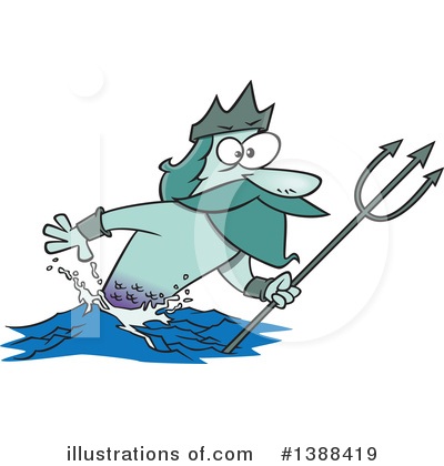 Poseidon Clipart #1388419 by toonaday