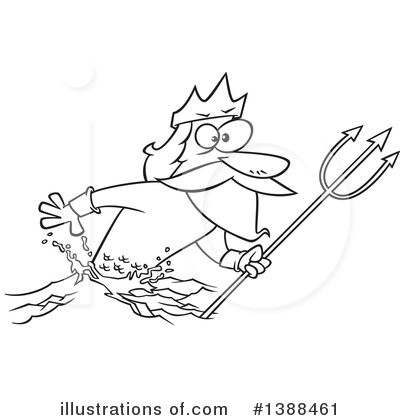 Poseidon Clipart #1388461 by toonaday