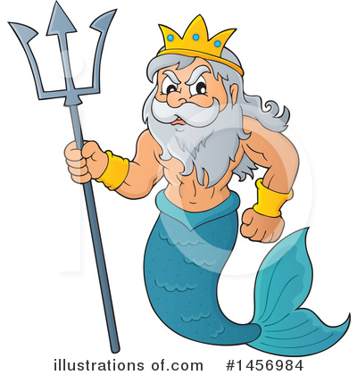 Royalty-Free (RF) Poseidon Clipart Illustration by visekart - Stock Sample #1456984