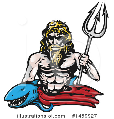 Poseidon Clipart #1459927 by Domenico Condello