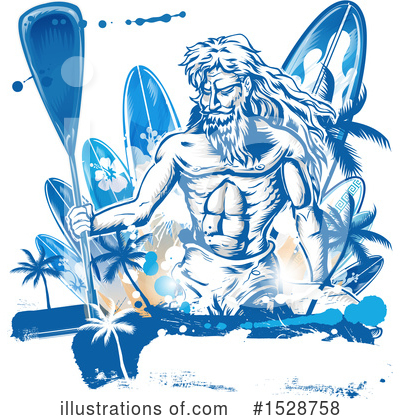 Royalty-Free (RF) Poseidon Clipart Illustration by Domenico Condello - Stock Sample #1528758