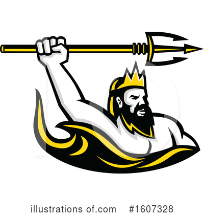 Royalty-Free (RF) Poseidon Clipart Illustration by patrimonio - Stock Sample #1607328