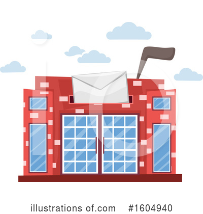 Royalty-Free (RF) Post Office Clipart Illustration by BNP Design Studio - Stock Sample #1604940