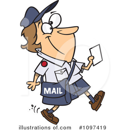 Mailman Clipart #1097419 by toonaday