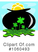Royalty-Free (RF) Pot Of Gold Clipart Illustration #1060493
