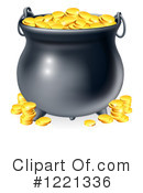 Pot Of Gold Clipart #1221336 by AtStockIllustration
