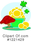 Royalty-Free (RF) Pot Of Gold Clipart Illustration #1221429
