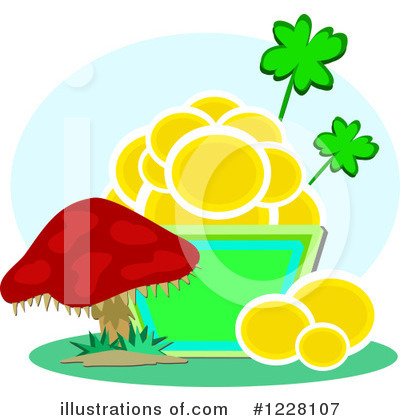 Royalty-Free (RF) Pot Of Gold Clipart Illustration by bpearth - Stock Sample #1228107