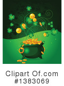 Royalty-Free (RF) Pot Of Gold Clipart Illustration #1383069