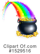 Pot Of Gold Clipart #1529516 by AtStockIllustration