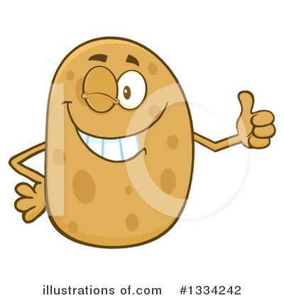 Potato Clipart #1334242 by Hit Toon