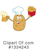 Royalty-Free (RF) Potato Character Clipart Illustration #1334243