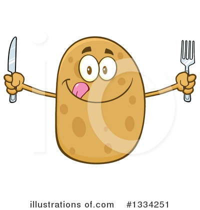 Potato Clipart #1334251 by Hit Toon
