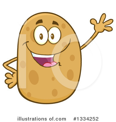 Potato Clipart #1334252 by Hit Toon